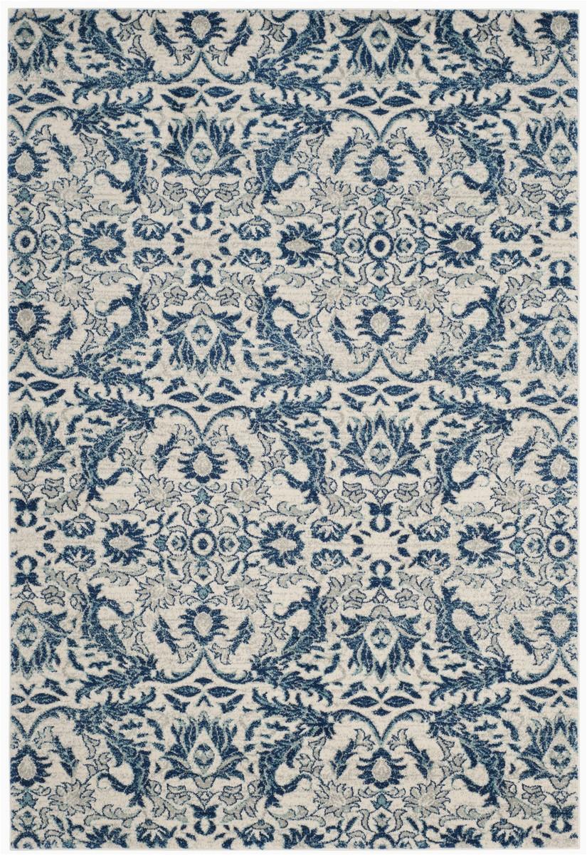 Safavieh Evoke Ivory Blue Rug Rug Evk238c Evoke area Rugs by Safavieh