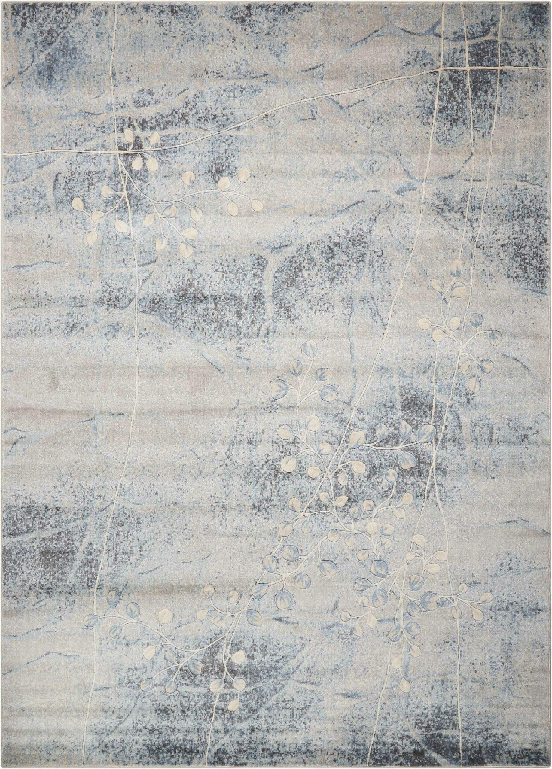 myron floral silver blue area rug
