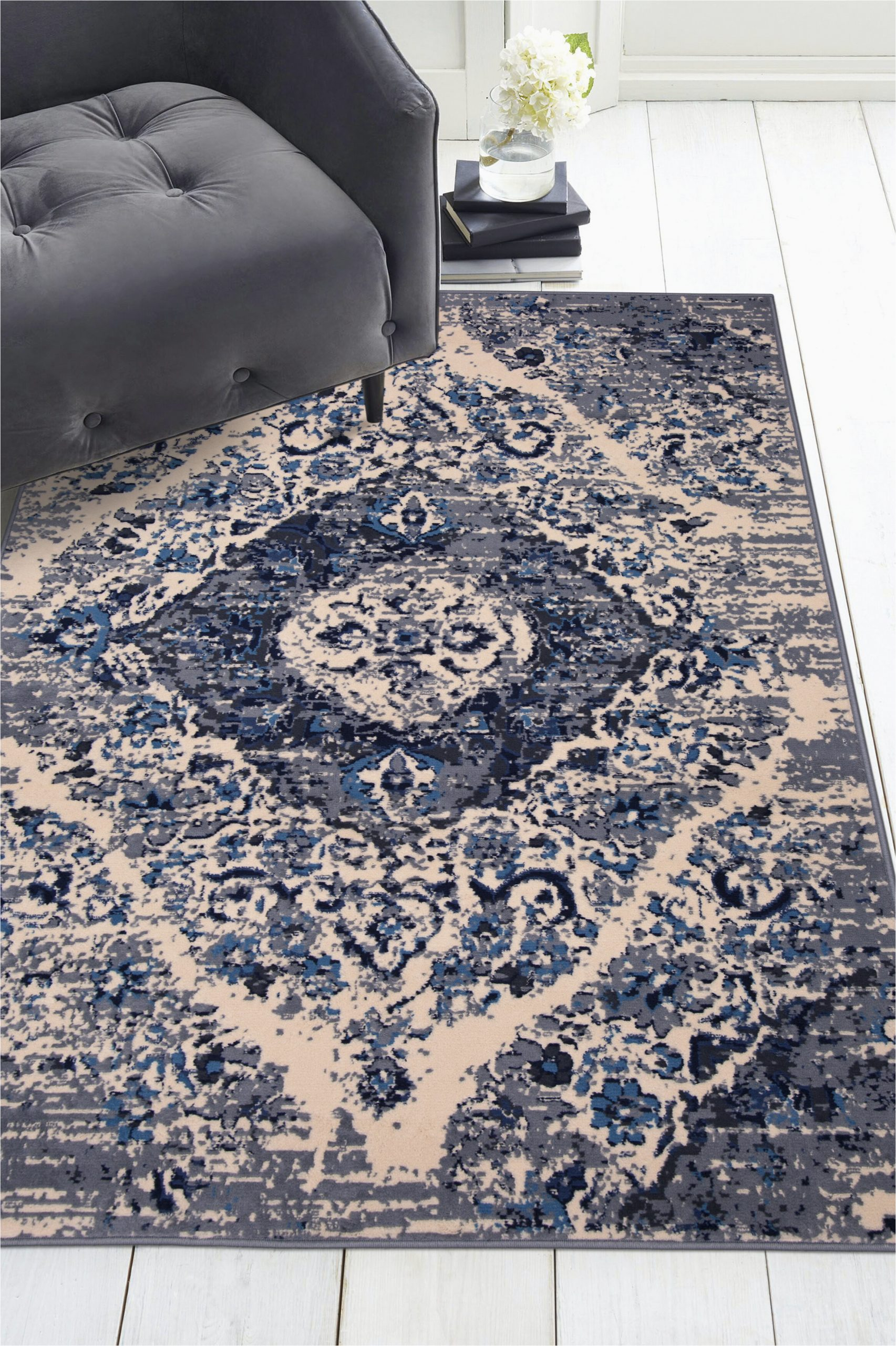 world menagerie distressed panel grey area rug 8x10 c002413556