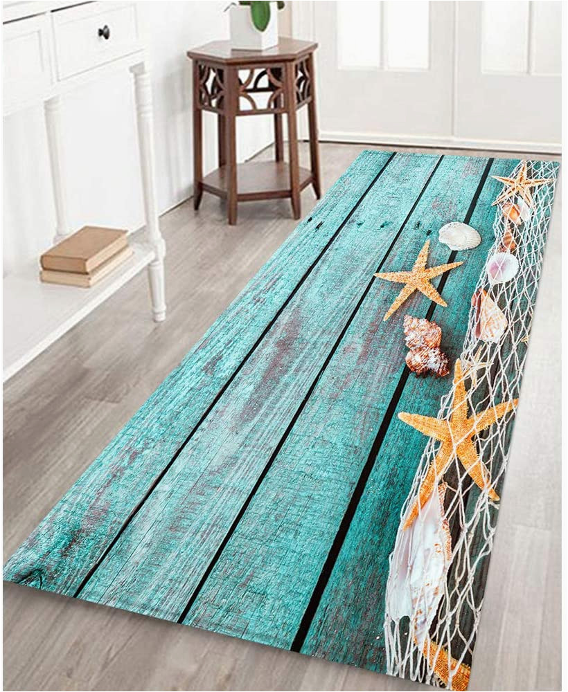 Best Non Slip Bath Rug Bathroom Rug Mat Non Slip Flannel Microfiber Bath Mat area Rug with Water Resistant Rubber Back Anti Slip Runner Long Mat for Bathroom Kitchen Floors