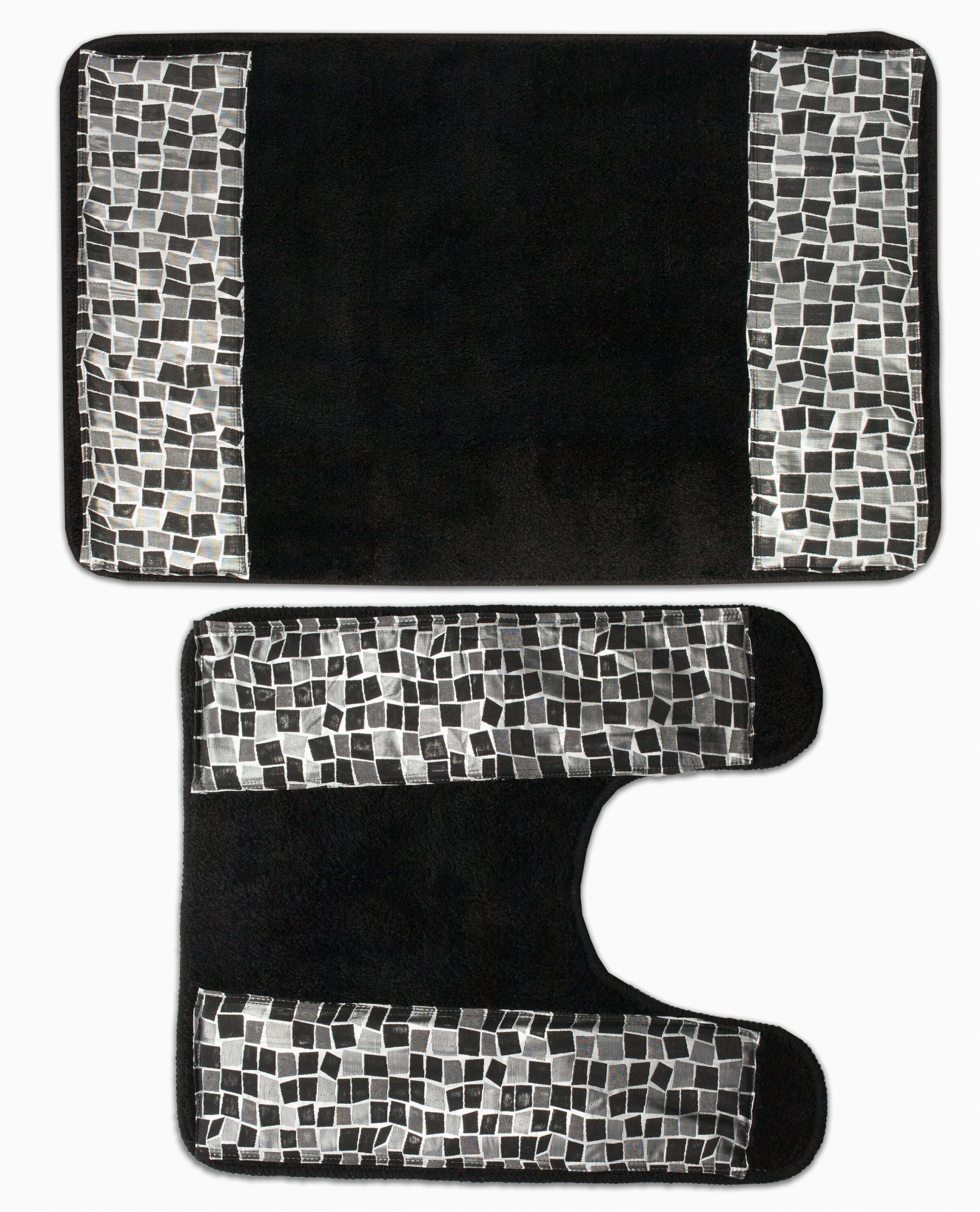 orren ellis holstentor banded plaid 2 piece bath rug set w000356991