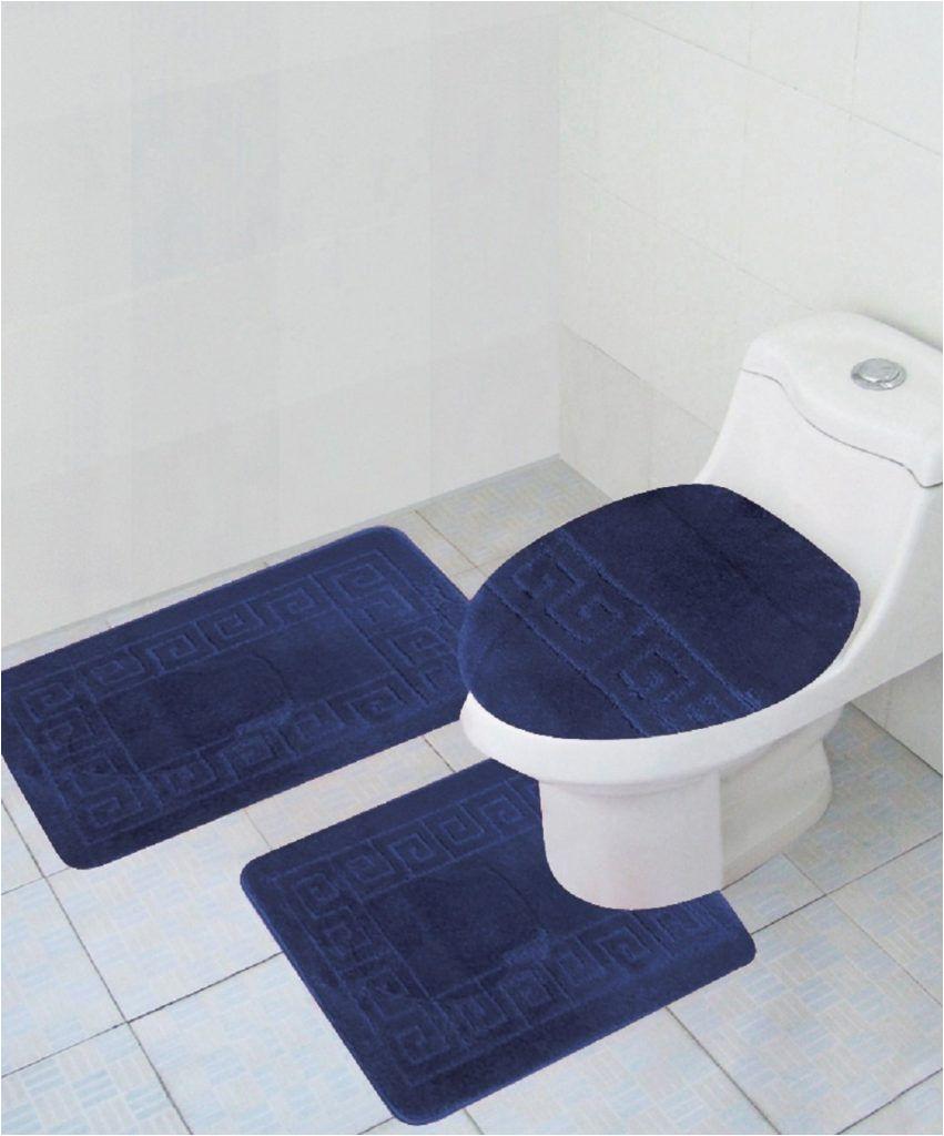 Blue Bath Rug Sets Dark Blue Bathroom Rug Com Rug Set Bathroom Rug Sets