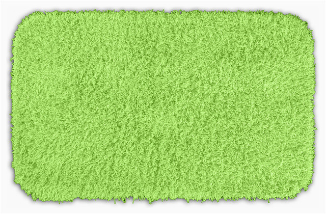 Bright Green Bath Rugs Quincy Super Shaggy Lime Green Washable 24x40 Bath Rug