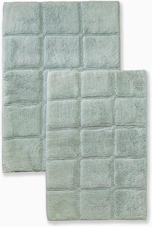 Cotton Non Skid Bath Rugs Superior 2 Piece Cotton Checkered Non Skid Bath Rug Set