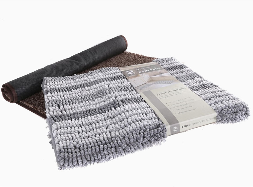 2 x town country living bath rugs grey brown buyers note discount f