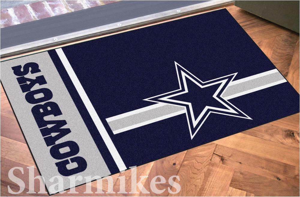 Dallas Cowboys Bath Rugs Dallas Cowboys 19x30 Bath Bedroom area Door Striped