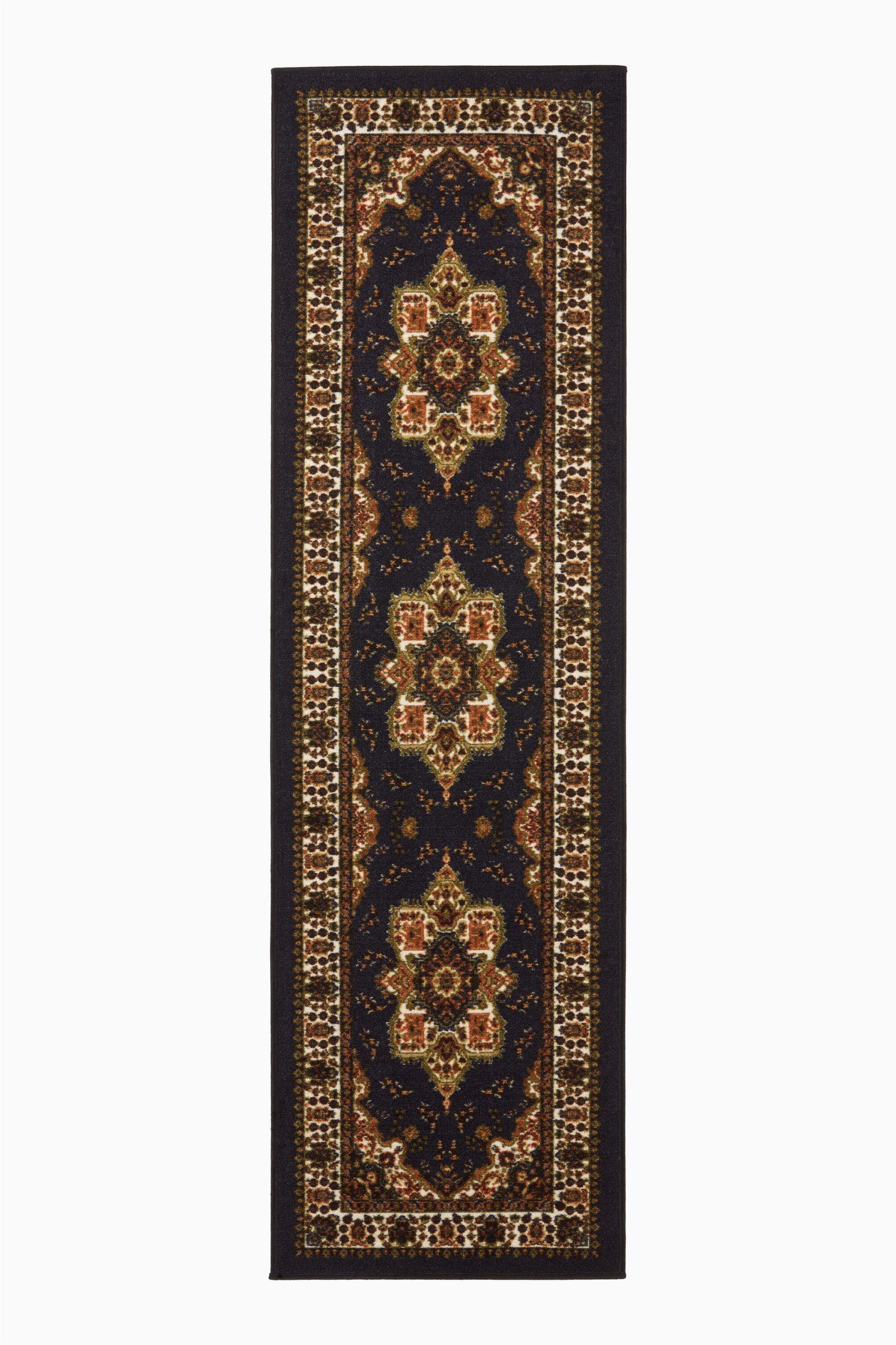 fleur de lis living maone oriental blackbrown area rug w003404932piid1544427125
