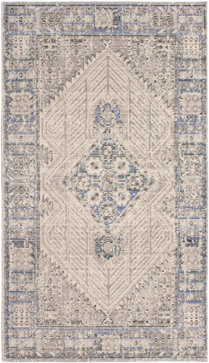French Connection Home Bath Rug French Connection Kilm Rug 27x46 Grey Blue