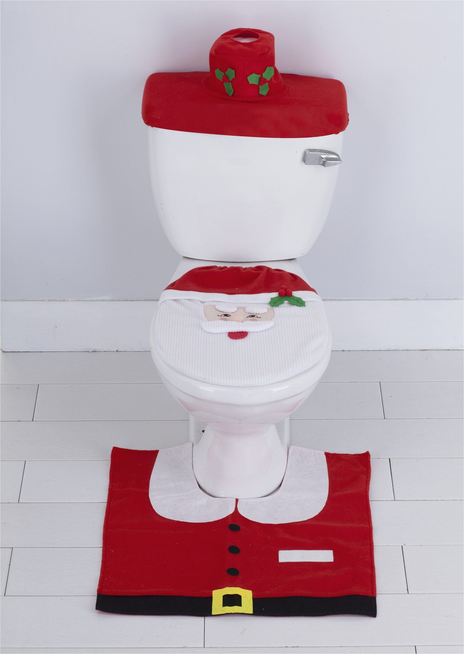 Holiday Bath Rug Set Festivebath by Benjonah 3 Piece Decorative Holiday Bath Rug Set Santa Claus Walmart Com