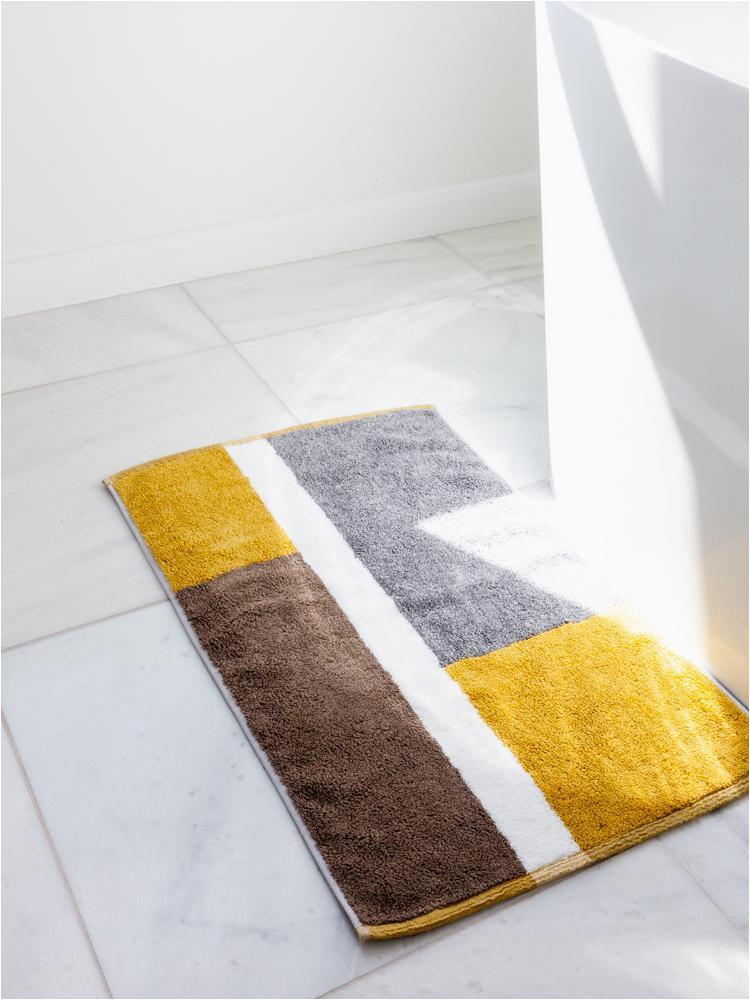 Light Yellow Bath Rug Bath Mats Rikumo