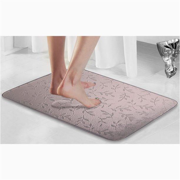 Walmart Memory Foam Bath Rugs Popular Bath Plush Leaf Memory Foam Bath Rug Walmart Com