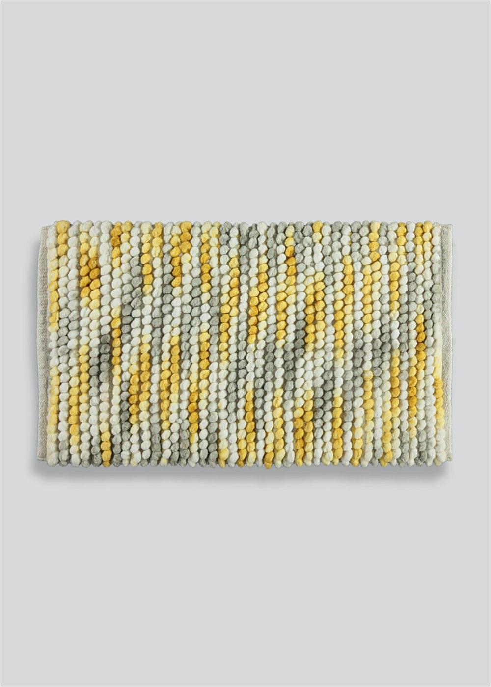 chunky bobble bath mat 80cm x 50cm yellow