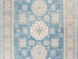 """10 by 11 area Rug Khotan Hand Knotted area Rug 8 10"""" X 11 10"""" – solo Rugs"""