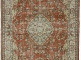 """10 by 11 area Rug Turkish Vintage area Rug 6 11"""" X 10 9"""" 83 In X 129 In"""