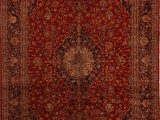"10 by 20 area Rugs Ardakan Red Hand Knotted 9 10"" X 15 2"" area Rug 251"