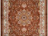 "10 by 20 area Rugs Nevita Collection isfahan Persian Traditional Medallion Design area Rug Rugs Brown 7 10"" X 9 10"""