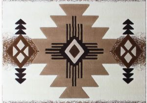 10 Feet by 12 Feet area Rugs south West Native American area Rug Design C318 Ivory 8 Feet X 10 Feet