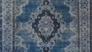 "10 X 12 Blue area Rugs 10 0"" X 12 9"" Vintage Overdyed Blue Rug"