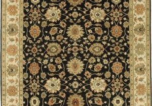 10 X 16 area Rug Due Process Stable Trading Mirzapur Agra Black & Ivory area
