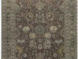 """10 X 16 area Rug E Of A Kind Hand Knotted Red Gray 12 10"""" X 16 10"""" Wool area Rug"""