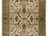 """10 X 18 area Rug E Of A Kind Trinity Handwoven 12 1"""" X 18 9"""" Wool Brown Ivory area Rug"""