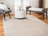 100 Percent Cotton area Rugs Natural area Rugs Natural Fiber Handmade Reversible Brilliance Leather Jute Rectangular Rug 9 X 12 Gray Beige
