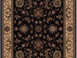 10ft by 12ft area Rugs Living fort Indoor area Rug Polypropylene Black Ivory
