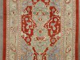 10×12 area Rugs Near Me 10×12 Blue Vintage Oushak area Rug