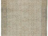 "11 by 11 area Rug Beige Turkish Vintage area Rug 6 7"" X 9 11"" 79 In X 119 In"