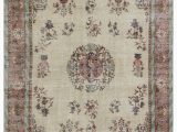 "11 by 11 area Rug Turkish Vintage area Rug 6 9"" X 9 11"" 81 In X 119 In"