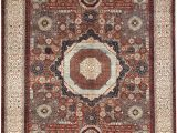 """11 by 13 area Rugs E Of A Kind Aryana Handwoven 11 8"""" X 13 11"""" Wool Red Ivory area Rug"""