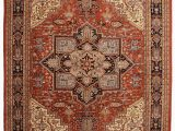 "11 by 14 area Rugs 9 11"" X 14 4"" Vintage Persian Heriz Design Wool area Rug 9693"