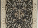 "11 by 14 area Rugs E Of A Kind Elegance Select Handwoven 11 9"" X 14 9"" Wool Silk Black Gray area Rug"