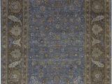 """11 by 15 area Rugs oriental Hand Knotted 11 11"""" X 15 4"""" Wool Light Blue Rust area Rug"""