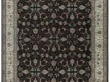 """11 X 17 area Rugs E Of A Kind Jahan Handwoven 11 9"""" X 17 9"""" Wool Black Ivory area Rug"""