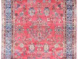 11 X 18 area Rug Antique Persian Kerman C1920 11 X 18 Blue Rose area Rug