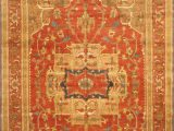 "11 X 18 area Rug Hand Knotted Sarabi Dark Copper Wool Rug 11 10"" X 18 0"