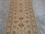 "13 by 15 area Rugs Chobi Beige Runner Hand Knotted 2 9"" X 14 8"" area Rug 700"