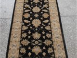 "13 by 15 area Rugs Chobi Black Runner Hand Knotted 2 9"" X 13 1"" area Rug 700"
