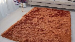 2 Inch Pile area Rug Glorious Collection 2 Inch Pile Large Shag area Rug orange