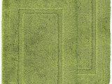 2 X 5 Bath Rug ashley Mills Non Slip Plain Border soft Pile 2 X Bath Mat Plain Floor Rug Lime Green