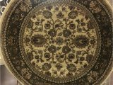 2 X 5 Bath Rug Round Elegant 5×5 Floral Green Sage Border Rug for the Home New Just In