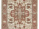 """2 X 6 area Rugs E Of A Kind Templeton Handwoven 6 2"""" X 9 4"""" Wool Red Beige area Rug"""