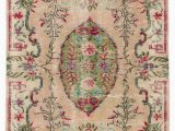 """2 X 8 area Rugs Turkish Vintage area Rug 4 2"""" X 8 1"""" 50 In X 97 In"""