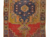 """2 X 8 area Rugs Turkish Vintage area Rug 4 2"""" X 8 5"""" 50 In X 101 In"""