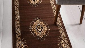 2 X 8 area Rugs Unique Loom Reza 2 8 Feet 2 X 8 Runner Mashad Brown area Rug