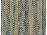 """20 X 30 area Rug Capel Rugs tooele Braided Concentric area Rug Green 20"""" X"""
