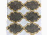 20 X 34 Bath Rug Threshold Plush Gold & Brown Geometric Tufted Bath Rug Throw Mat 20×34 Walmart