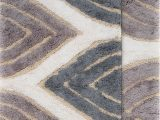 "21 X 34 Bath Rug Chesapeake Davenport 2pc Grey Bath Rug Set 21""x34"" & 24""x40"""
