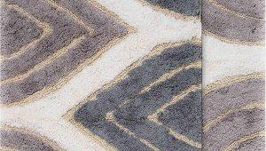"""24 Inch Bath Rug Chesapeake Davenport 2 Pc Grey Bath Rug Set 21""""x34"""" & 24""""x40"""""""